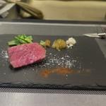あもん ヨコ - 炉釜焼き塊肉ステーキ(神戸牛ランプ)