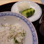 味 ふくしま - 氷魚と青菜のご飯