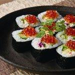 乃家 - 蟹とイクラの太巻き