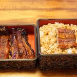 かばや - 料理写真:鰻蒲焼きとご飯がセパレート