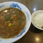 えびす屋 - カレーラーメン+ご飯セット  600円