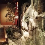 蟹工船 - 中は日本庭園