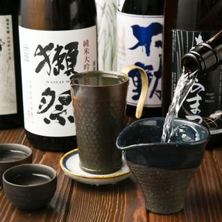 厳選日本酒ラインナップ☆当店でしか呑めない限定酒も