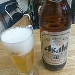 かとりや - ビール  大瓶  600円