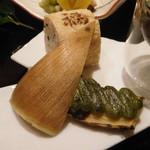 Sagasawakan - 筍木の芽田楽焼き・稲荷寿司
