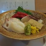 あけぼの寿し - 料理写真:お造りの盛り合わせ