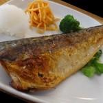 イリオモテネコ食堂 - *塩鯖は程よい塩加減で普通の味わいだそうな。