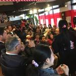 あんこ椿 - 2016年12月の初蔵出し式。市長・議長・見解議員ほか