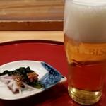 63832394 - 鮨政 西口店 ランチビールお通し付き