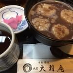 大村庵 - そばがき汁粉です。