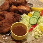 63833202 - 鶏の唐揚げ にんにく醤油味