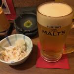 揚旬 - 白えびおろしと生ビール