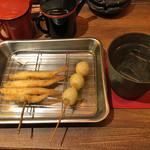 揚旬 - 串揚げと焼酎水割り