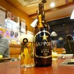 肉の田じま - 瓶ビールは3種から選べます
