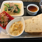 カフェダイニング プリエ - 料理写真:ワンプレートランチ(パスタ・サラダ・グラタン・海老カツのサンドイッチ・プリン)