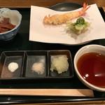 天ぷら 島家 - 海老とふきのとう