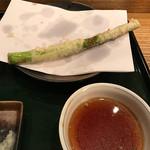 天ぷら 島家 - アスパラ