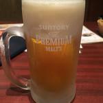吾照里 - プレモル生ビール280円(19時まで)