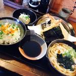 三六 - 天ぷら定食1430円+200円でイクラ飯に