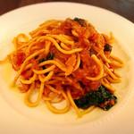 オステリアラブラ - 蟹のパスタ1800円 自家製麺のパスタ