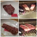 炭火焼肉のバクロ - ◆焼いてま~す。