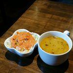 63844603 - セット:サラダとスープ
