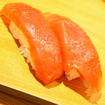 雛鮨 - 高級寿司食べ放題(3,990円+税)の『づけまぐろ』2017年3月