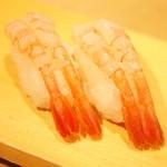雛鮨 - 高級寿司食べ放題(3,990円+税)の『甘えび』2017年3月