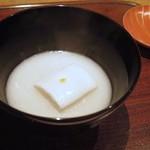 ごだん 宮ざわ - 豆腐、タラ白子すり流し椀