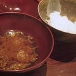 ごだん 宮ざわ - 土鍋白米・赤出汁茗荷
