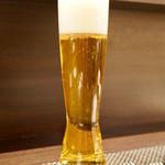 レストラン ラ・フロレゾン・ドゥ・タケウチ - グラスビール