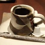 63851019 - ランチのコーヒー(富士山形のカップ)は美味でした
