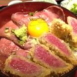 63853378 - 牛カツ&ローストビーフ丼