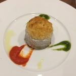 63854252 - 太刀魚のベッカフィーコ パプリカのソース、サルサヴェルデ、オレンジの香り
