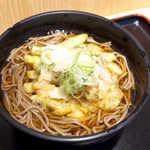よもだそば - 〔期間限定〕岩下の新生姜とじゃがいものかき揚げそば(¥450)。かき揚げに入ったベーコンが隠し味!