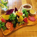 ソライロ キッチン - 季節の丹波野菜を使った農園直送バーニャカウダ 1200円
