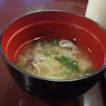 水明館 - 味噌汁