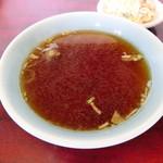 中華そばもりや - 味が薄いスープ