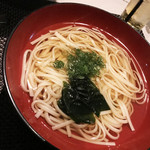 ゼックスウエスト 炙り焼き&寿司 アン - 天ぷらうどん(天ぷら無し)