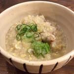 トゥーランド カフェ - 〆の鶏雑炊も美味だった。思わずお代わりをしてしまった。