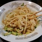 2代目ぱんだ食堂 - じゃじゃ麺(小)まぜまぜ後