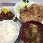 みたけ食堂 - 生姜焼き、きんぴら、ライス小、味噌汁