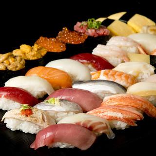 寿司職人が匠の技を駆使してにぎる高級寿司が食べ放題!!