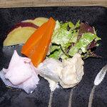 玄菜院 風土 - 豆乳玄菜麺席(野菜五点盛り)