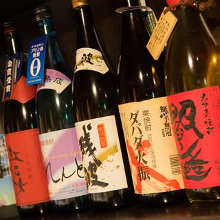 広島の日本酒、焼酎をご用意!