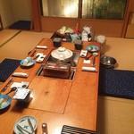 まる屋 - 夕食・朝食の部屋(個室)