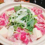 Hiroumi - 火入れ前の牛肉のハリハリ鍋〜^^;