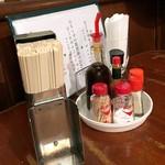 アカシア - 卓上の調味料たち