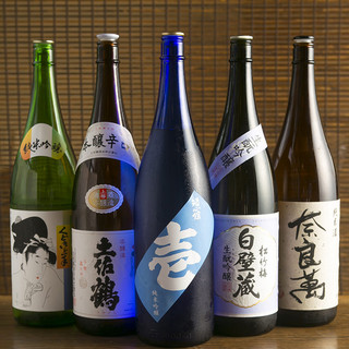 魚料理にはやっぱり地酒!30種以上随時入荷中です480円~