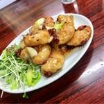 中華四川料理 天山 - 豆豉蝦仁(エビの浜納豆唐辛子炒め)1400円